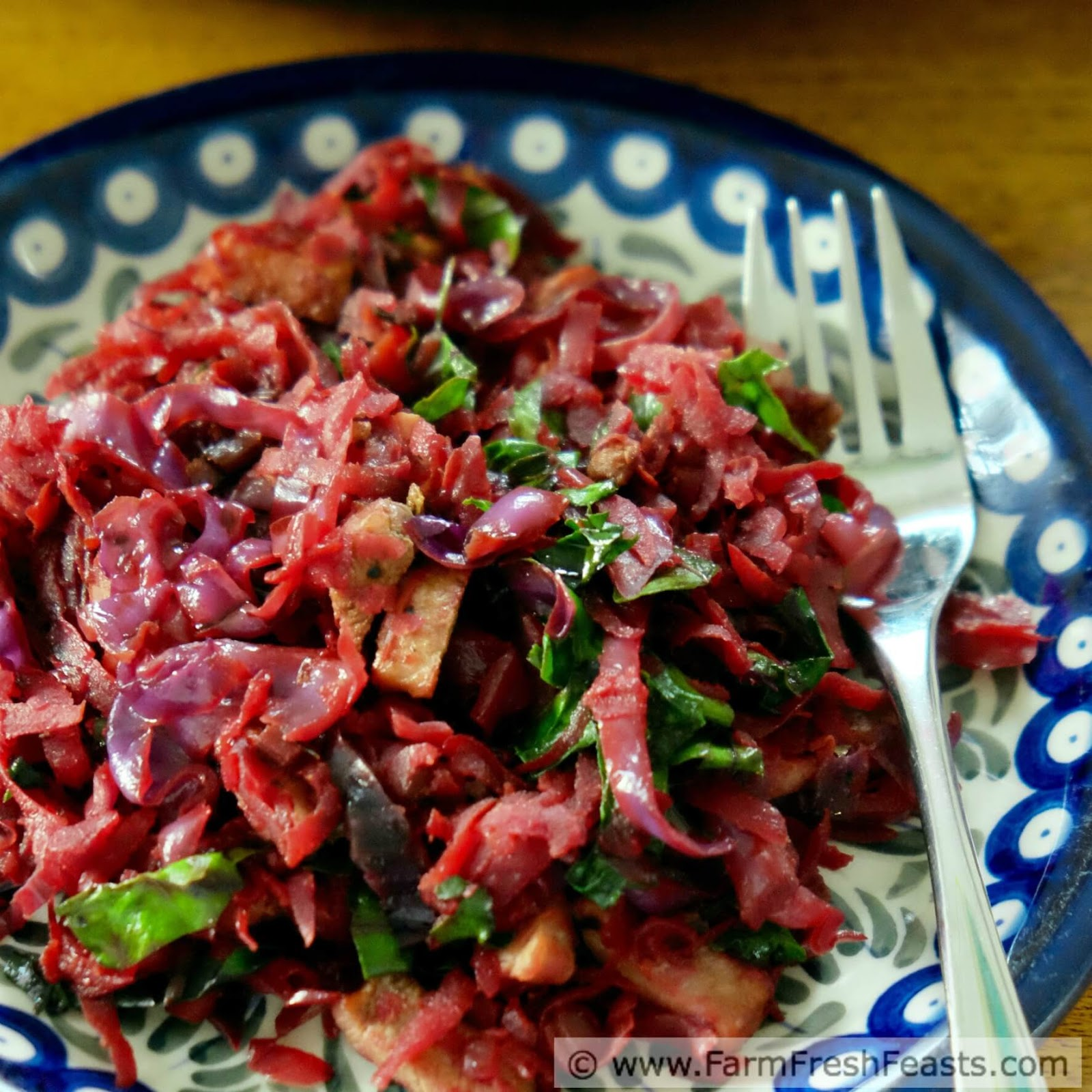 Red Pork and Cabbage with Beets