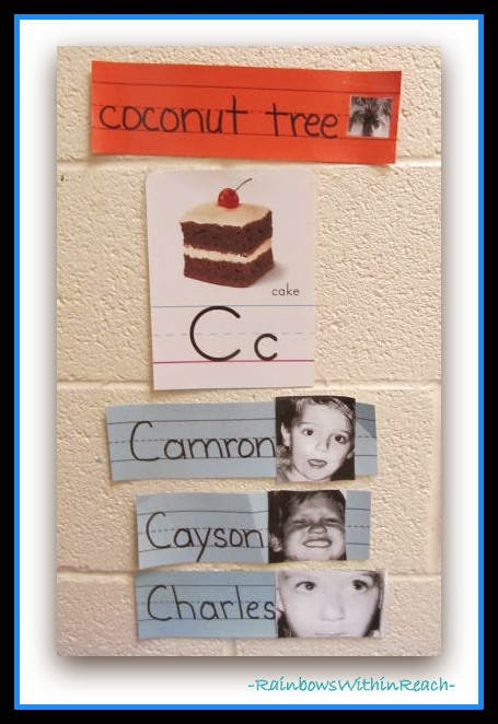 Word Walls with Student Photos: Word Wall RoundUP at RainbowsWithinReach