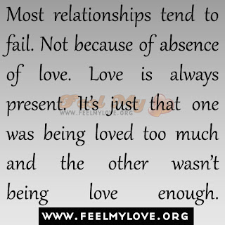 Most relationships tend to fail