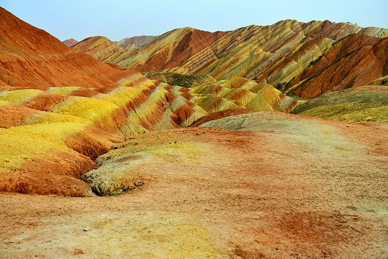 Zhangye danxia landform, colorful mountains