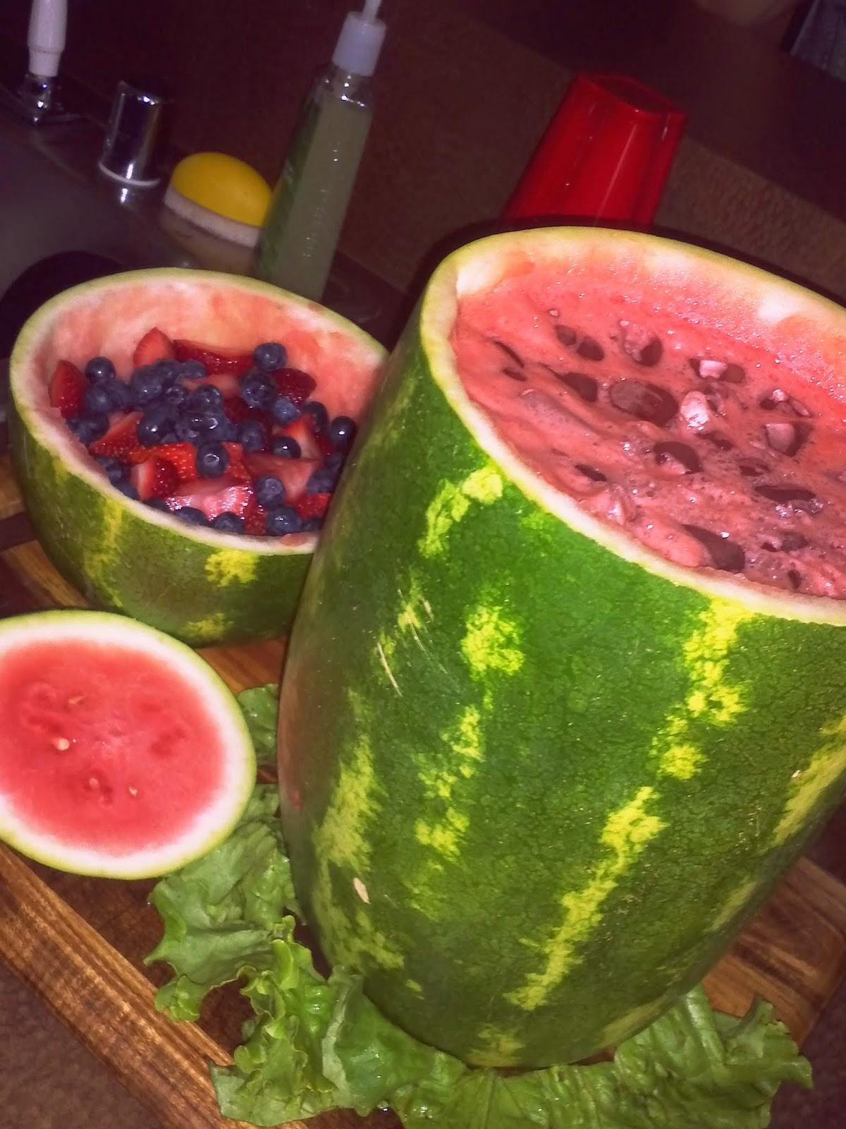 Foodie & Fabulous: Watermelon Punch Bowl