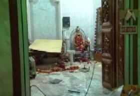 চট্টগ্রামের হাটহাজারীতে ক্ষতিগ্রস্থ মন্দির