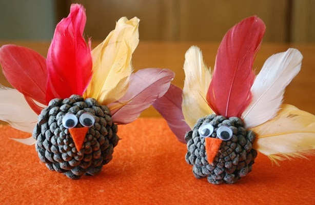 Kids Pinecone Crafts