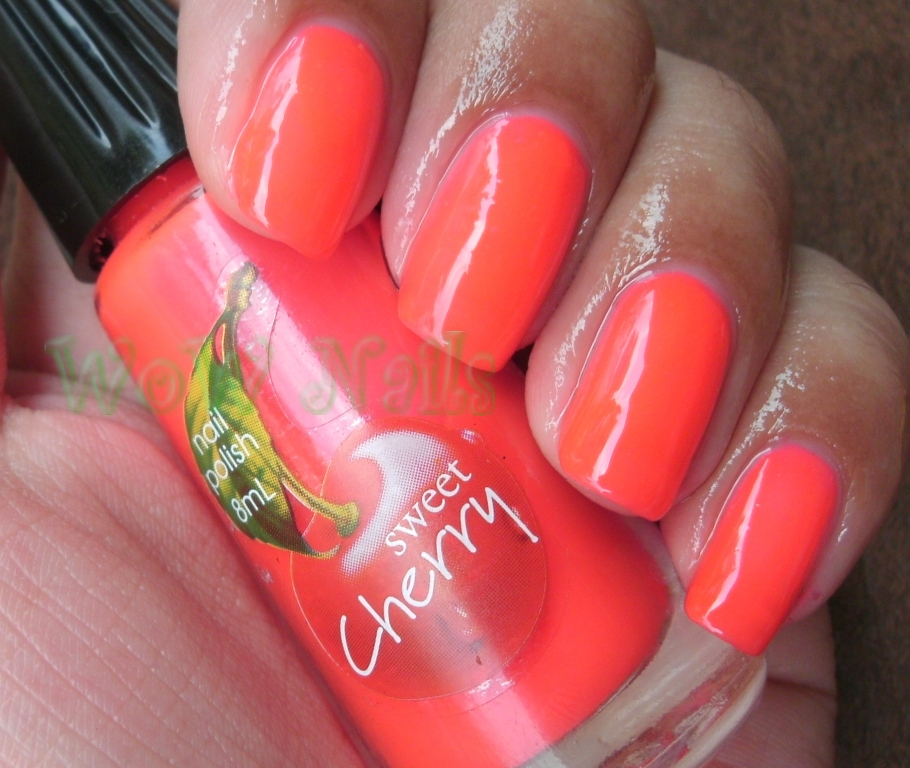 WoW Nails: Sweet Cherry Nail Polish NEON PINK