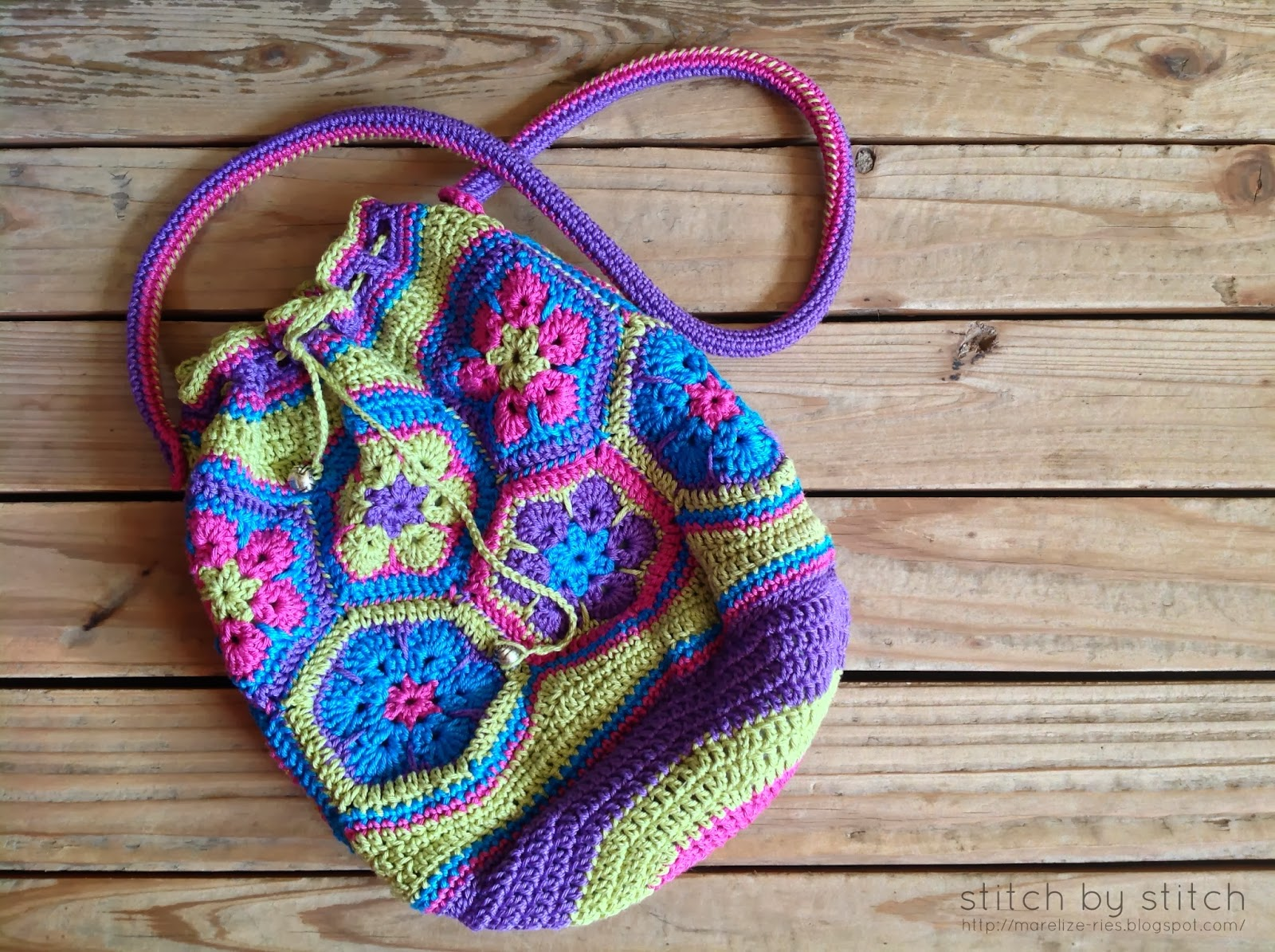 Lining Crochet Bag : ... to a larger bag as well. Hope you enjoy making your very own bag