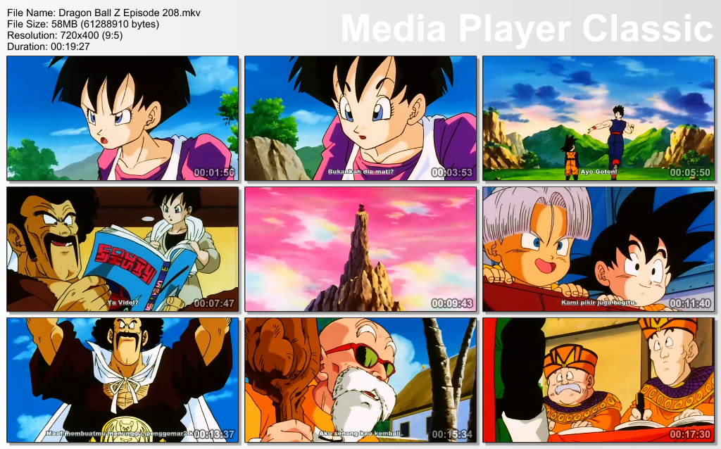 Download Film / Anime Dragon Ball Z Majin Buu Saga Episode 208 Bahasa