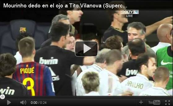 Foto Video Jose Mourinho Jewer Telinga Tito Vilanova
