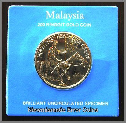 """Malaysia 200 Ringgit Gold Coin"""