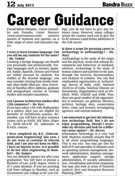 article about career guidance