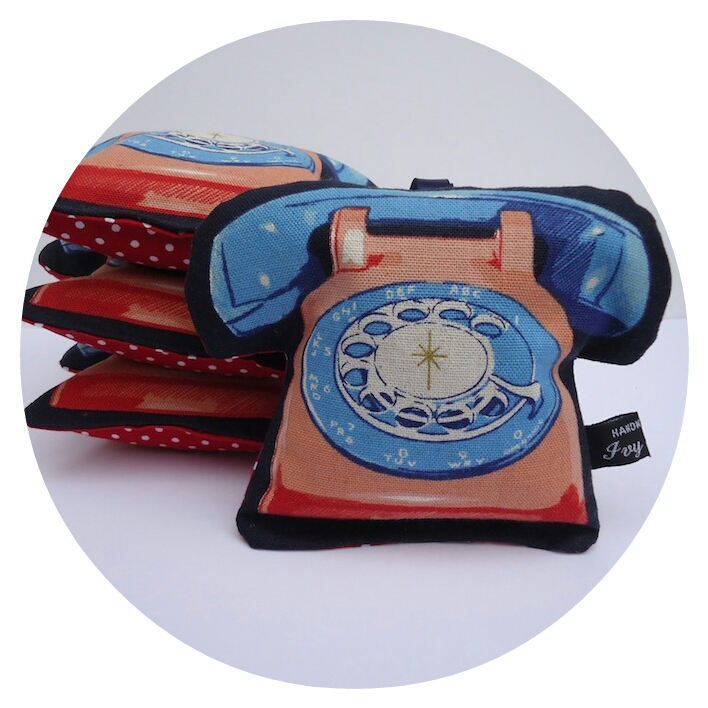 New retro telephone lavender bags by Ivy Arch