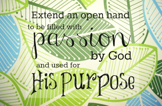 following our god-given passion and purpose