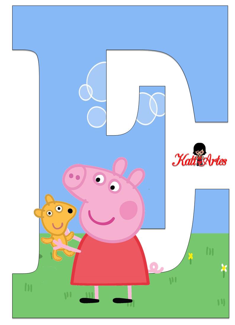 Peppa Pig Manualidades, Peppa Pig Party, Alphabet Letters, Alphabet