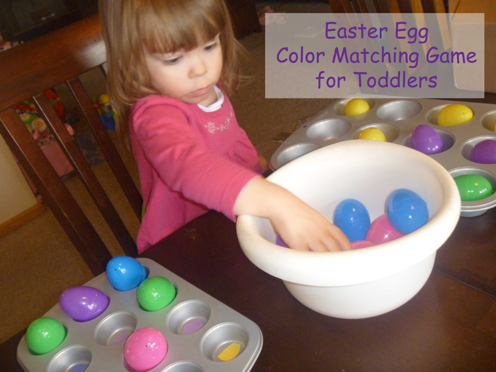 Teaching colors to a toddler