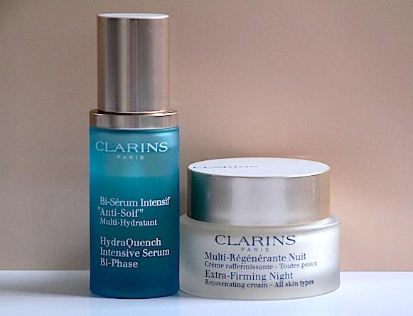 soins visage clarins test avis sérum anti-soif bi-phasé multiactive nuit