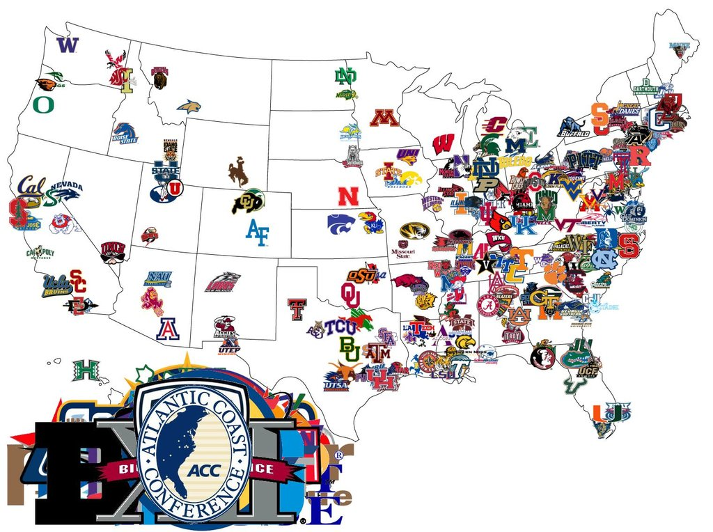 NCAA Fan Map How The Country Roots For College Football The NFL - Nfl team us map