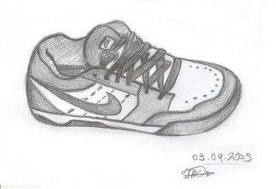 A Desenhar tênis para tênis colorir