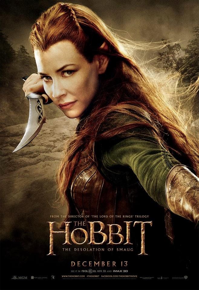El Hobbit: la Desolación de Smaug - poster final Tauriel
