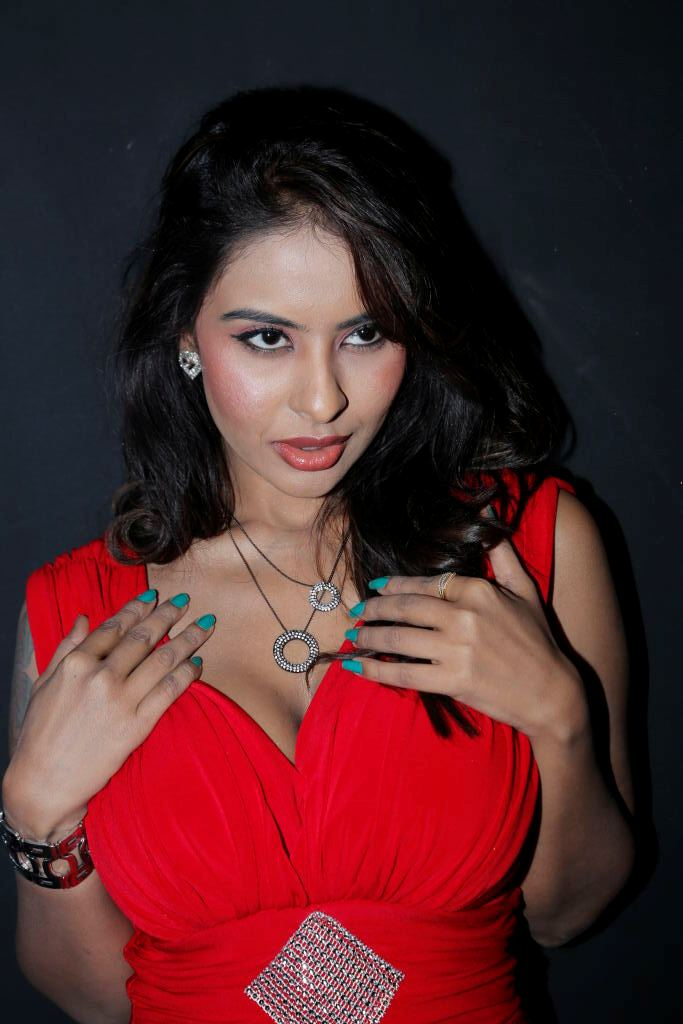Actress Srilekha Latest Shoot In Red Dress