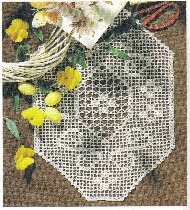 Toalhinha de crochê losango