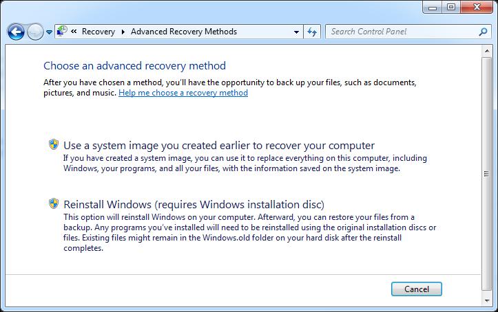 Tiga cara System Image Recovery di Windows