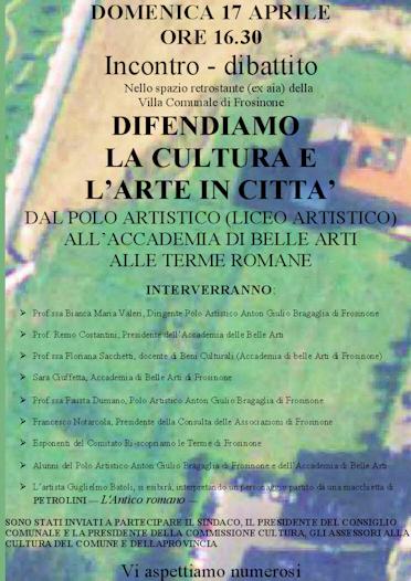 Frosinone bella e brutta villa comunale 17 aprile 2011 for Arte e arredo frosinone