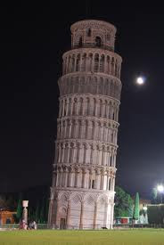 Cause behind lean of pisa tower