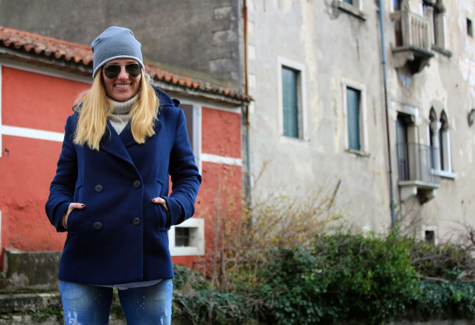 Eniwhere Fashion - Caban blu - Vittorio Veneto