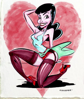 comic pin up girl