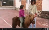 Primera classe d'equitació en 2n de primària