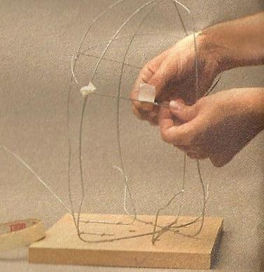 Como hacer una l mpara org nica lodijoella - Alambre galvanizado manualidades ...