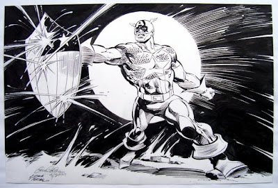 Dibujo del Capitán América por Gene Colan