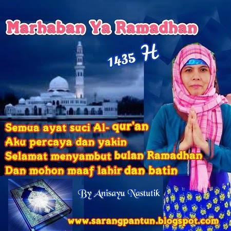 Sms Pantun Selamat Menyambut Bulan Suci Puasa Ramadhan  H