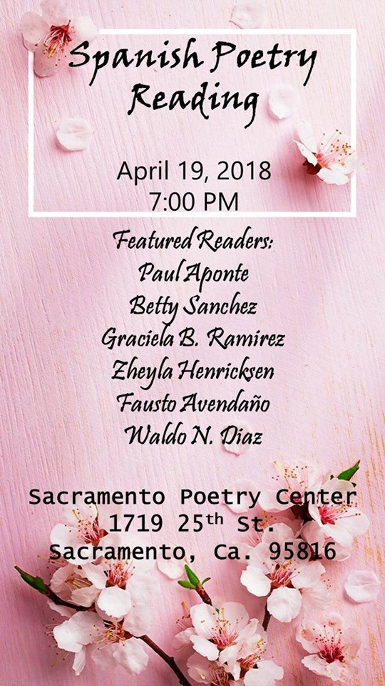 SPANISH POETRY READING at SPC Thurs. (4/19)