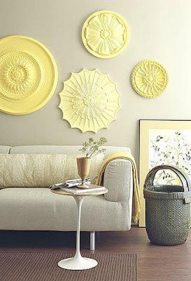 Decorar la pared con medallones de techo: ceiling rosettes