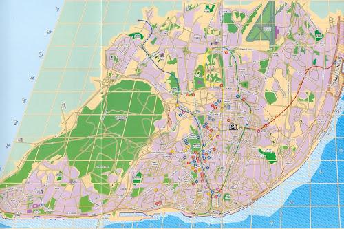 Mapa da cidade de Lisboa – Portugal