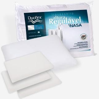 Travesseiro Altura Regulável Nasa  Duoflex