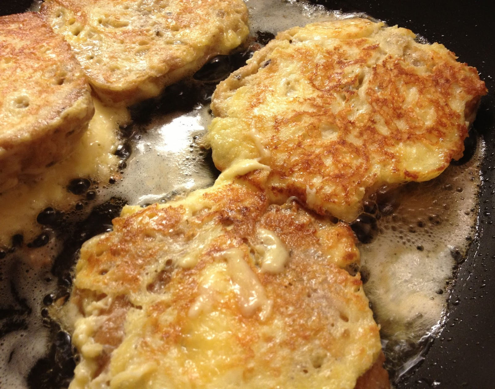 Gluten Free French Toast Frying In Butter