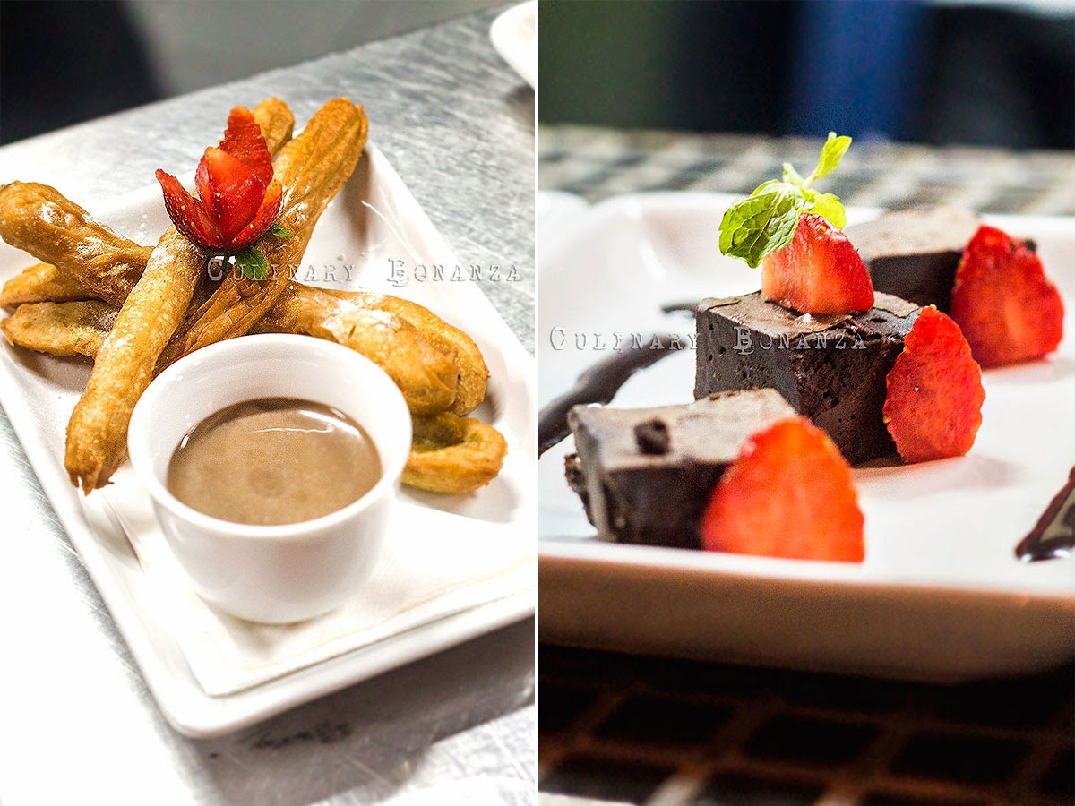 Churros and Chocolate Marquise