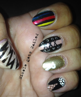Rocky Horror Picture Show Nail Art