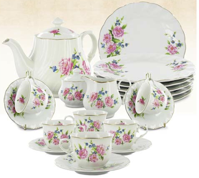 Fiona Porcelain Inexpensive Tea Set