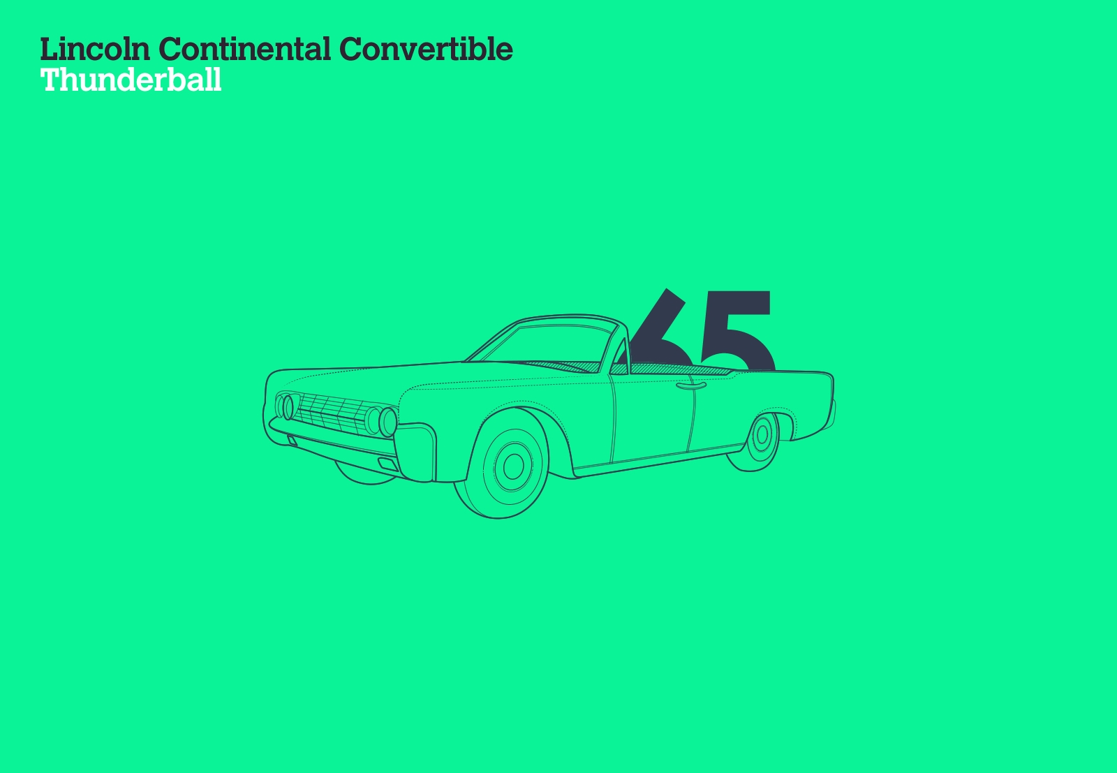Lincoln Continental Convertible Thunderball
