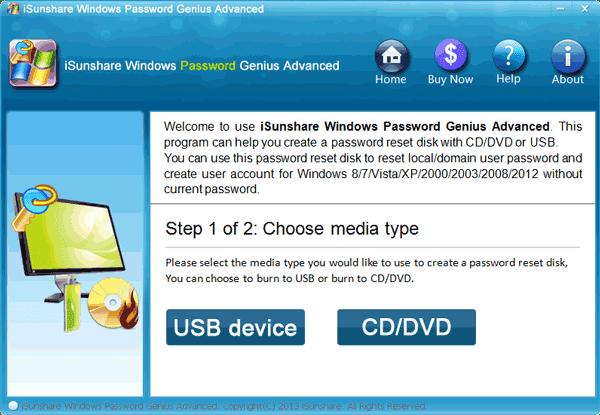 Windows password recovery tool for Windows 8/8.1 password reset