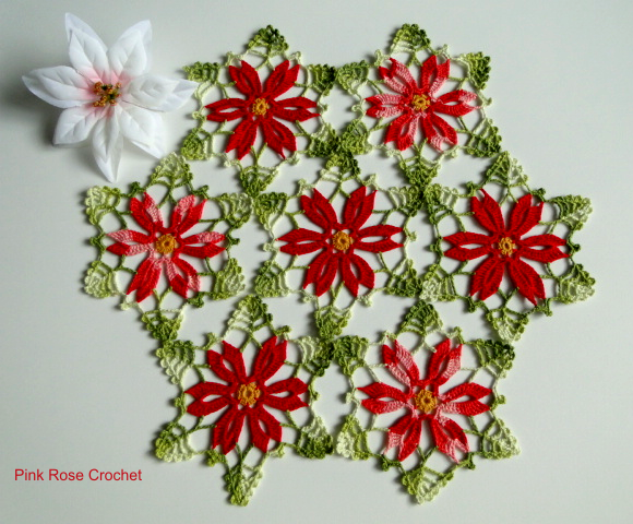 Carpeta Al Crochet De Colores Combinados Con Diagrama