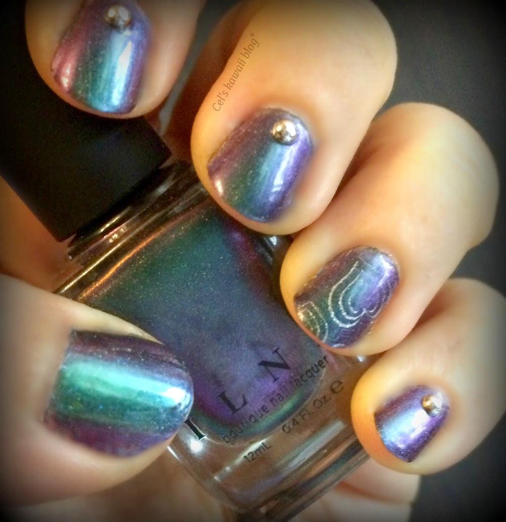 I Love Nail Polish Sirene nail stamping