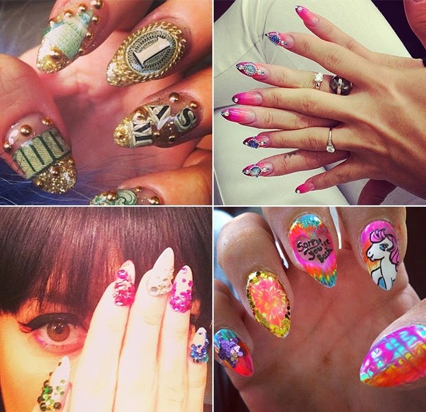 Famous use jewelry to adorn your nails