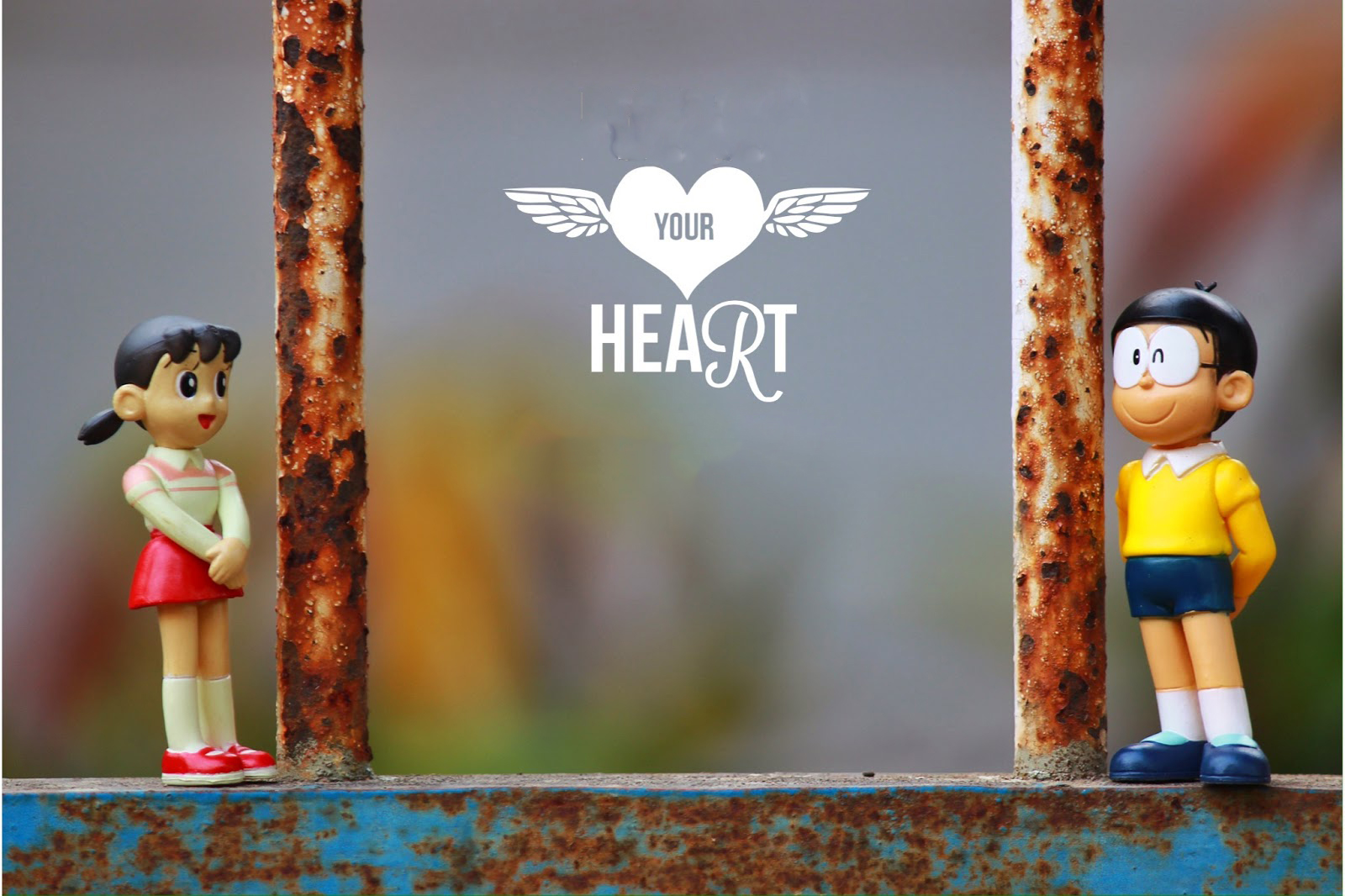 Doraemon - Nobita dan Shizuka Wallpaper Heart