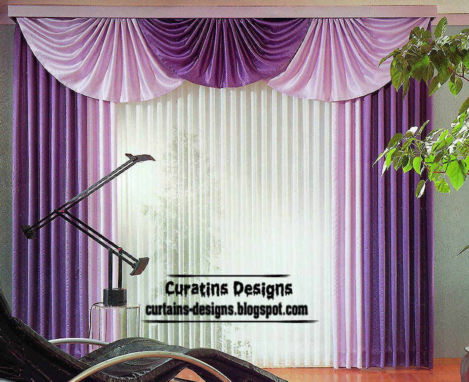 Modern purple curtain design ideas for bedroom interior - Curtain photo designs ...