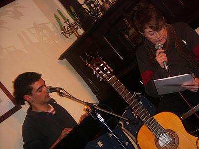 Con Muerdo en el Café Libertad, 8 (Madrid). 2 de diciembre de 2011.