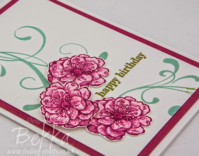 How to colour using the Blender Pens from Stampin' Up! UK - Free Video Tutorial Here
