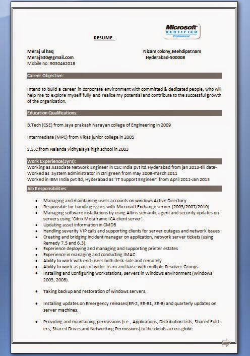 professional engineer resume format